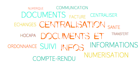 Nuage de mots centralisation docs et infos, fonctionnalités, HoCaPa